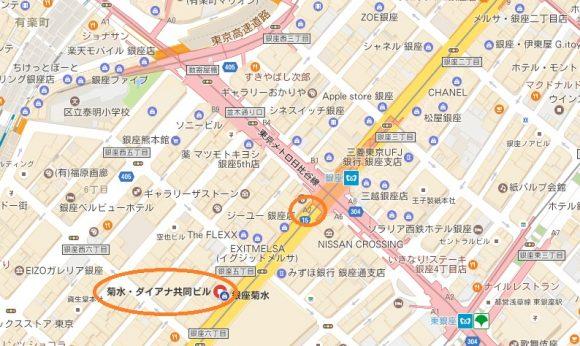 レジーナクリニック銀座院の地図